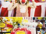 Clown Decorations for Birthday Party Circus Birthday Party Ideas Circus themed Birthday Party