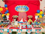 Clown Decorations for Birthday Party Kara 39 S Party Ideas Circus Carnival 1st Birthday Boy Girl