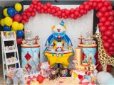 Clown Decorations for Birthday Party Kara 39 S Party Ideas Stellar Circus Birthday Party Kara 39 S