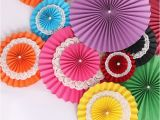 Color Paper Decorations Birthday Aliexpress Com Buy 8 Inches Honeycomb Tissue Paper Fan