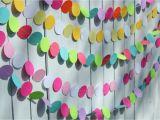 Color Paper Decorations Birthday Birthday Party Decorations Paper Garland Party Decoration
