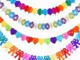 Color Paper Decorations Birthday Hot Sale Chinese Colored Paper Garlands Baby Birthday