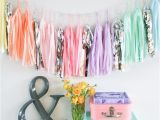 Color Paper Decorations Birthday Patterned Paper Tassel Garland Colored Paper Tassel