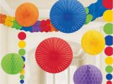 Color Paper Decorations Birthday Wabenball Girlanden Facher Lampion Deko Set Honeycomb Ball