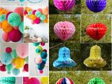 Color Paper Decorations Birthday Wedding Party Honeycomb Paper Lantern Balls Home