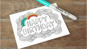 Color Your Own Birthday Card Free Coloring Pages Card Happy Birthday Color