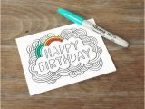 Color Your Own Birthday Cards Free Coloring Pages Card Happy Birthday Color