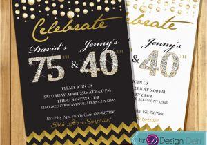 Combined Birthday Party Invitation Wording Cards Joint Invitations