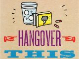 Comical Birthday Cards Avoid Getting A Hangover Funny Birthday Card Cards