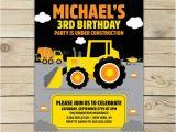 Construction Birthday Invitations Free Printable Construction Birthday Invitation Printable Digger Birthday