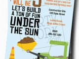 Construction Birthday Invitations Free Printable Construction Truck Invitations Printable Boys by