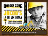 Construction Invites Birthday Party Construction Birthday Invitation Photo Card Customizable