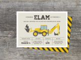 Construction Invites Birthday Party Construction Birthday Party Invitation by Brightsideprints