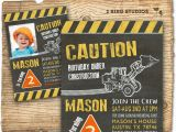 Construction Invites Birthday Party Construction Invitation In Chalkboard Optional Construction