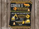 Construction theme Birthday Invitations Construction Birthday Party Invitation Construction Birthday