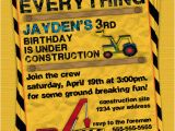Construction theme Birthday Invitations Construction Birthday Party Invitation Invite