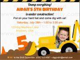 Construction theme Birthday Invitations Construction Birthday Party Invitation