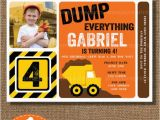 Construction theme Birthday Invitations In the Dirt Boys Construction Party B Lovely events