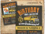 Construction themed Birthday Party Invitations Construction Invitation for Construction theme Birthday Party