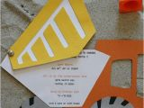 Construction themed Birthday Party Invitations Construction Party Ideas Supplies Shindigs Com Au