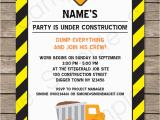 Construction themed Birthday Party Invitations Construction Party Invitations Template Birthday Party