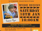 Construction themed Birthday Party Invitations Construction Truck Boy 39 S Birthday Party theme Spaceships