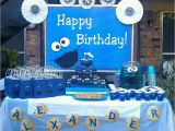 Cookie Monster 1st Birthday Decorations Cookie Monster Birthday Party Ideas Photo 1 Of 12