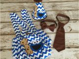 Cookie Monster 1st Birthday Decorations Cookie Monster First Birthday Boy Blue Chevron by