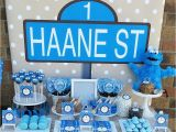 Cookie Monster 1st Birthday Decorations Cookie Monster First Birthday Little Wish Parties