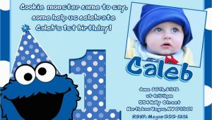 Cookie Monster Birthday Invites Cookie Monster Birthday Invitations Diy Digital Printable