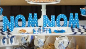 Cookie Monster Birthday Party Decorations A Boy 39 S Cookie Monster Birthday Party Spaceships and