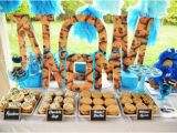 Cookie Monster Birthday Party Decorations Kara 39 S Party Ideas Chic Girl Blue Diy Cookie Monster