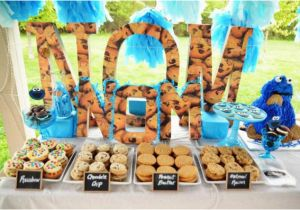 Cookie Monster Birthday Party Decorations Kara 39 S Ideas Chic Girl Blue Diy