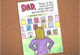 Cool Birthday Cards for Dad Dad Birthday Card Funny Card for Dad Hand Drawn Card for