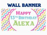 Cool Happy Birthday Banner Happy 13th Birthday Banner Personalize Party Cool Waves