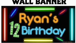 Cool Happy Birthday Banner Happy Birthday Banner Cool Glow Photo Birthday Personalized