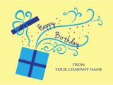 Corporate Birthday Card Design Front Imprint Business Birthday Card Cardsforcauses Com