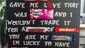 Country Birthday Gifts for Him Created My Own 2nd Anniversary Candy Message Board for My