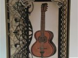 Country Music Birthday Cards Rebecca From the Rock Crafty Corner Guitar Birthday Card