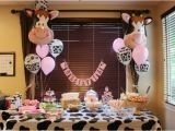 Cow Decorations for Birthday Party 1st Birthday Cow Party Birthday Pinterest Cow Cakes