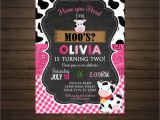 Cow Print Birthday Invitations Cow Birthday Invitation Printable File Moo Invitation
