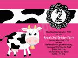 Cow Print Birthday Invitations Cow Birthday Party Invitations