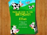 Cow Print Birthday Invitations Cow Party Invitation Printable Birthday Invite for A Farm