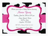 Cow Print Birthday Invitations Cow Print Pink Baby Shower or Birthday Invitation Zazzle Com