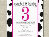 Cow Print Birthday Invitations Fun Pink Cow Print Birthday Party Invitation