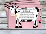 Cow Print Birthday Invitations Items Similar to Printable Invitations Pink Cow Birthday