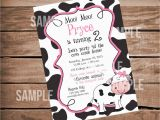 Cow Print Birthday Invitations Moo Moo Cow Farm theme Birthday Party Invitation Party Til