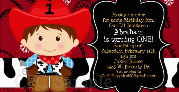 Cowboy 1st Birthday Invitations Cowboy Birthday Invitation 1st Birthday Cowboy Party