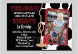 Cowboy 1st Birthday Invitations Cowboy Birthday Invitation Cowboy 1st Birthday Party