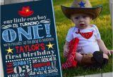 Cowboy 1st Birthday Invitations Cowboy Birthday Invitation Western Birthday Invitation Cowboy